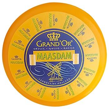 Сир Grand`Or Мааздам твердий 45% - купити, ціни на CітіМаркет - фото 1