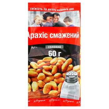 Арахіс Фуршет смажений солоний 60г Україна - купити, ціни на Фуршет - фото 1