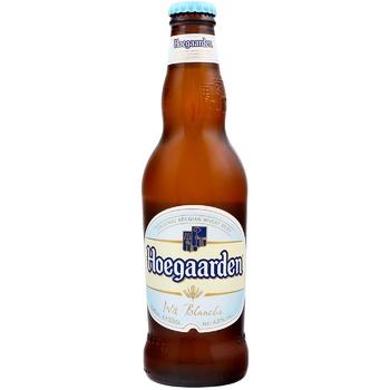 Пиво Hoegaarden Wit Blanche світле нефільтроване 4,9% 0,33л - купити, ціни на МегаМаркет - фото 1
