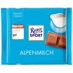 Шоколад молочный Ritter Sport Edel-Vollmilch Альпийское молоко 100г