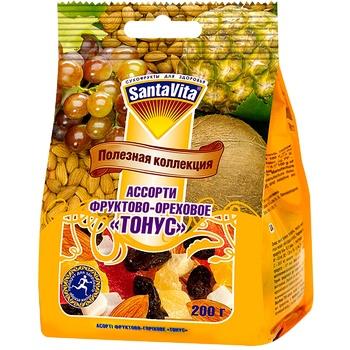 Ассорти Santa Vita Тонус Полезная коллекция фруктово-ореховое 200г