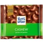 Шоколад молочний Ritter Sport з горіхами кешью 100г