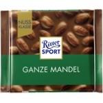 Шоколад молочный Ritter Sport с цельным миндальным орехом 100г