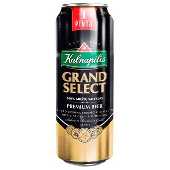 Kalnapilis Grand Beer 5,4% 0,5l - buy, prices for CityMarket - photo 1