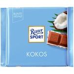 Шоколад молочний Ritter Sport з кокосово-молочним кремом 100г