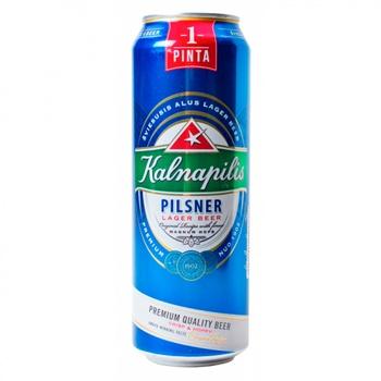 Пиво Kalnapilis Pilsner светлое 4,6% 568мл