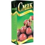 Нектар Смак вишневый с сахаром восстановленный тетрапакет 1000мл Украина