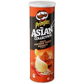 Pringles Rice Chips Chicken with Indian Spices Sharp  160g - buy, prices for Auchan - photo 1
