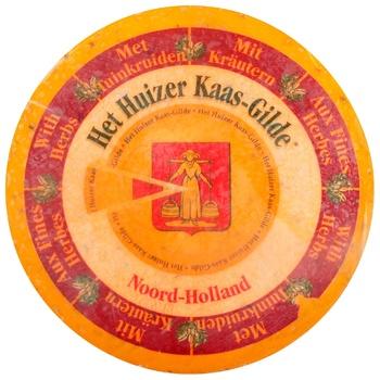 Сыр Huizer Kaas Gild Гауда с травами твердый 50% - купить, цены на СитиМаркет - фото 1