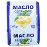 Масло Селянське солодковершкове 73% 200г - купити, ціни на ЕКО Маркет - фото 1