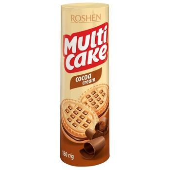 Печиво Roshen Мулті-кейк  з начинкою какао 180г - купити, ціни на CітіМаркет - фото 1