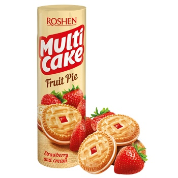 Roshen Multicake strawberries with cream cookies 195g - buy, prices for Furshet - image 1