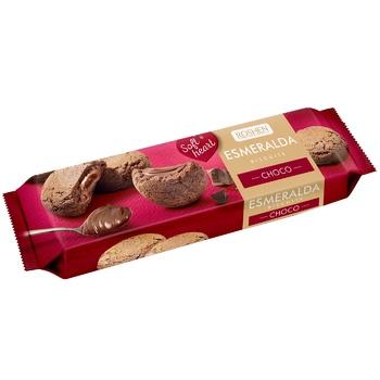 Печенье сдобное Roshen с начинкой эсмеральда soft heart choco 170г - купить, цены на МегаМаркет - фото 1