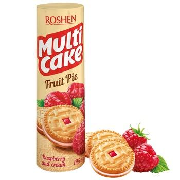 Печенье Roshen Multi Cake малина-крем 195г