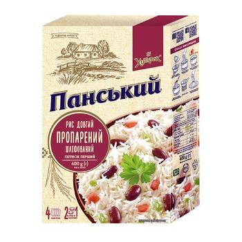 Рис Хуторок Панский пропаренный шлифованный 4*100г - купить, цены на ЕКО Маркет - фото 1