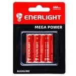 Enerlight Mega Power Alkaline AAА BLI 4 Battery