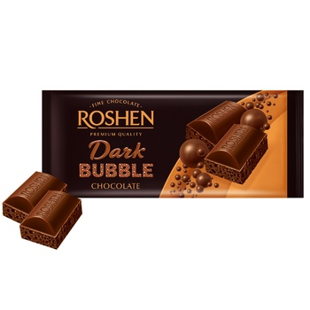Шоколад Roshen экстрачерный пористый 80г