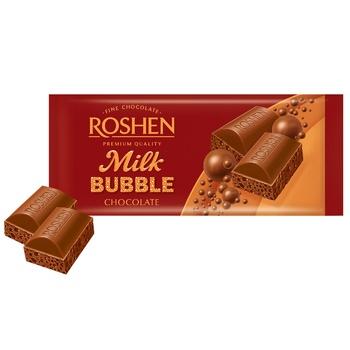 Шоколад Roshen молочный пористый 80г - купить, цены на Фуршет - фото 1