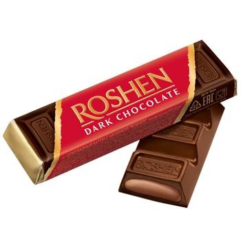 Roshen dark chocolate candy bar 43g - buy, prices for CityMarket - photo 1