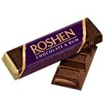 Батончик Roshen шоколадный с ромовой начинкой 43г
