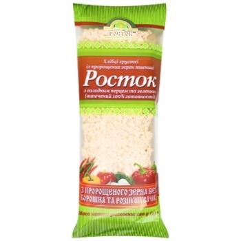 Хлібці УкрЕкоХліб Росток з пророщених зерен пшениці з солодким перцем і зеленню 120г - купити, ціни на Ашан - фото 1