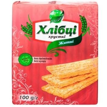 Хлібці Galleti хрусткі житні 100г