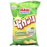 Nash Produkt Sour Cream and Greens Flavored Potato Chips 70g