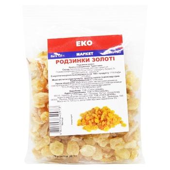 Eko Marka Golden Raisins 125g - buy, prices for EKO Market - photo 1