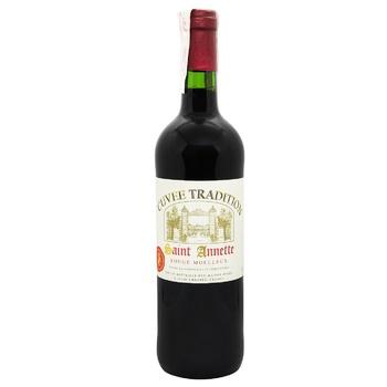 Вино Cuvee Saint Annette напівсолодке червоне 11,5% 0,75л