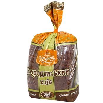 Хлеб Румянец Бородинский ржано-пшеничный нарезка 500г - купить, цены на МегаМаркет - фото 1