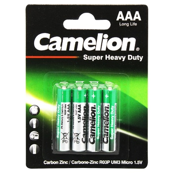 Бaтарейки Camelion Green Series AAA 4шт - купити, ціни на CітіМаркет - фото 1