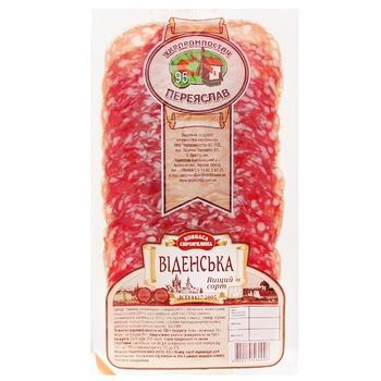 Колбаса Укрпромпостач-95 Венская сыровяленая нарезка 80г - купить, цены на Ашан - фото 1