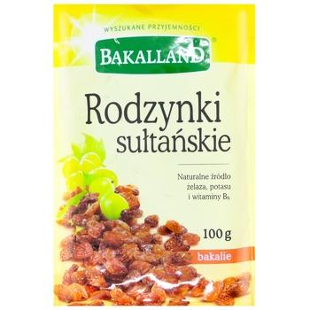 Изюм Bakalland Султана 100г - купить, цены на Метро - фото 1