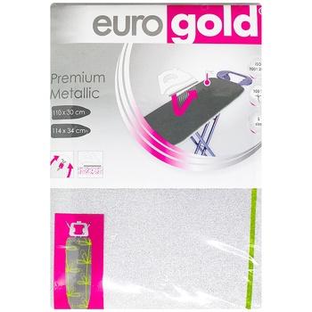 Чехол Eurogold Premium Metallic для гладильной доски 110X30см