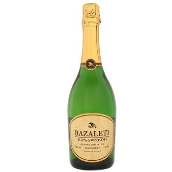 Вино ігристе Bazalet біле напівсолодке 12% 0,75л - купити, ціни на CітіМаркет - фото 1
