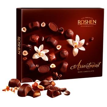 Конфеты шоколадные Roshen Assortment Classic Dark 154г - купить, цены на Ашан - фото 1