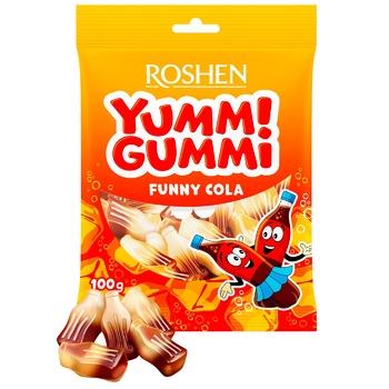 Конфеты желейные Roshen Yummi Gummi Funny Cola 100г - купить, цены на Восторг - фото 1