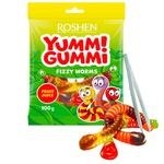 Roshen Yummi Gummi Fizzy Worms mix jelly candy 100g