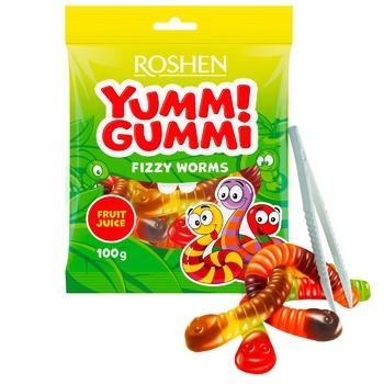 Конфеты желейные Roshen Yummi Gummi Fizzy Worms 100г - купить, цены на Восторг - фото 1