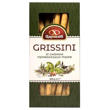 Печиво Grissini Цар Хліб  із смаком прованських трав фасоване 200г - купити, ціни на Фуршет - фото 1