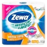 Полотенца кухонные Zewa Wish&Weg Extra Lang Design бумажные 2рул
