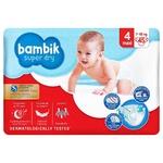Bambik Jumbo Maxi 4 Diapers 7-18kg 45pcs