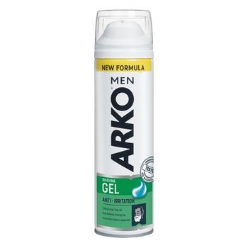 Гель для гоління Arko Men Захист від подразнення 200мл - купити, ціни на ЕКО Маркет - фото 1