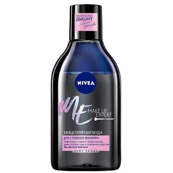 Вода мицеллярная Nivea Make Up Expert для устойчивого макияжа 400мл - купить, цены на Ашан - фото 1
