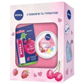 Подарочный набор для женщин Nivea Волшебная малинка