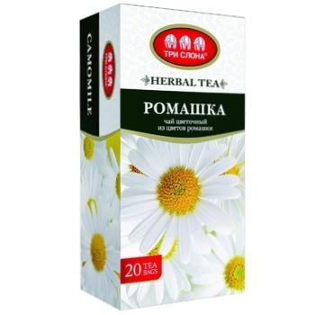 Tri Slona Chamomile Flower Tea 20pcs - buy, prices for EKO Market - photo 1
