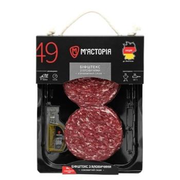 Бифштекс Мястория из говядины охлажденный ~300г - купить, цены на Ашан - фото 1