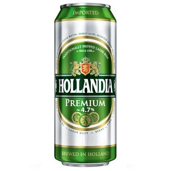 Пиво Голландия светлое 5%об. 500мл