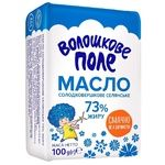 Масло Волошкове Поле Селянське солодковершкове 73% 100г