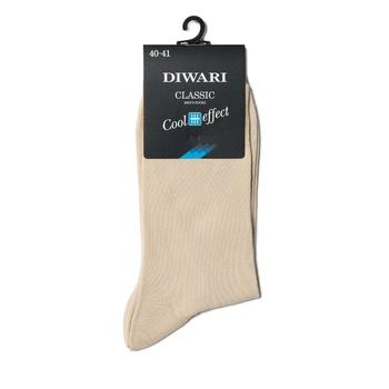 Носки мужские Diwari Classic Cool Effect р.27 000 бежевый 7C-23СП - купить, цены на Фуршет - фото 1